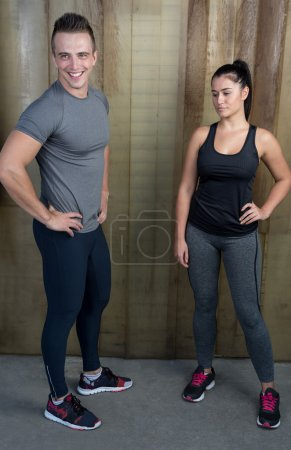 Fit couple after exercise
