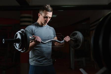 muscular man workout