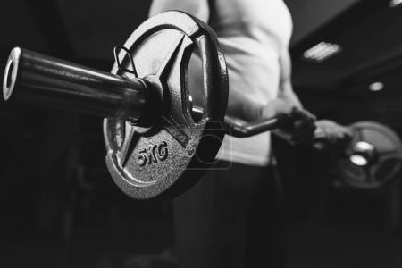 bodybuilder sportsman working out