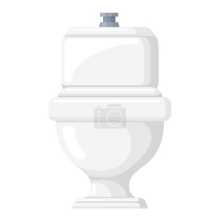 Toilet bowl icon, restroom and bath equipment