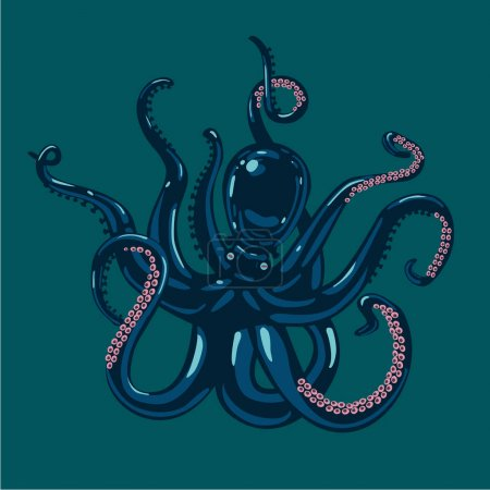 black octopus character