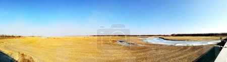 Photo for Beautiful landscape with a river in the background - Royalty Free Image