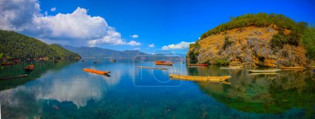 Photo for Beautiful landscape of the lake in the mountains - Royalty Free Image