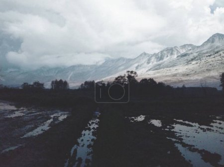 Photo for Beautiful landscape with mountains and clouds - Royalty Free Image