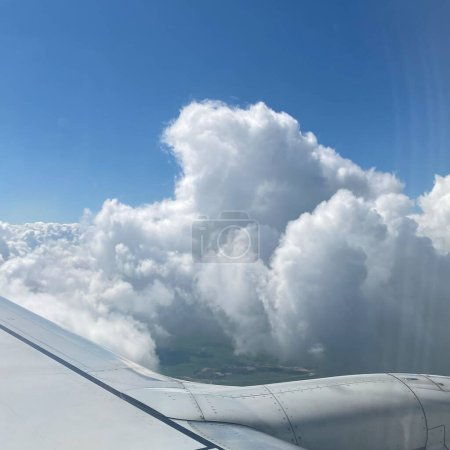 Photo for View of the airplane window - Royalty Free Image
