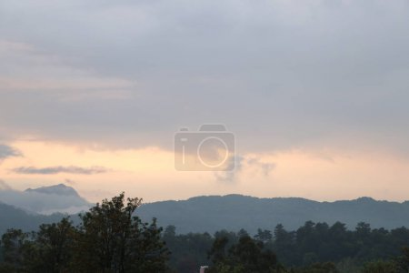 Photo for Beautiful landscape with a mountain and a cloudy sky - Royalty Free Image