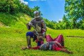 Středověké rytíře bojovat
