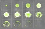 Toxic explosion special effect animation frames