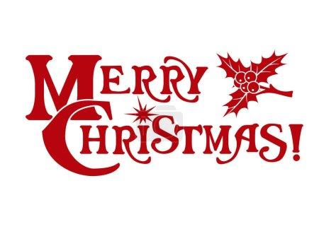 The inscription Merry Christmas.