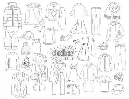 A set of clothes. Sketch.