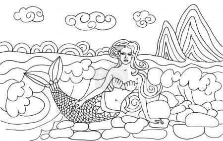 Mermaid on the beach.