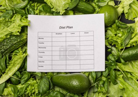 Photo for Healthy eating, dieting, slimming and weigh loss concept. Diet concept - Royalty Free Image