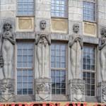 HELSINKI, FINLAND - May 09, 2017: Bas-reliefs Mela...
