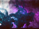 dark  violet mystic smoke, colorful ink wallpaper, abstract background