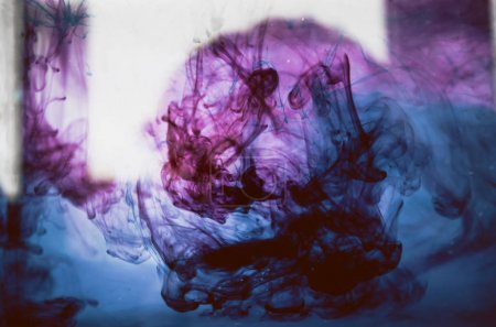 violet mystic smoke, colorful ink wallpaper, abstract background