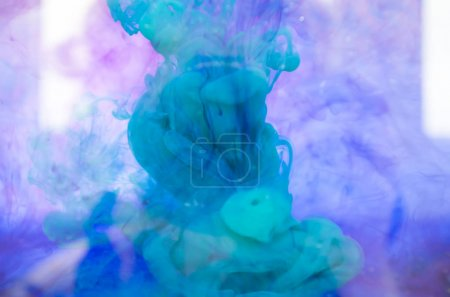 blue mystic smoke, colorful ink wallpaper, abstract background