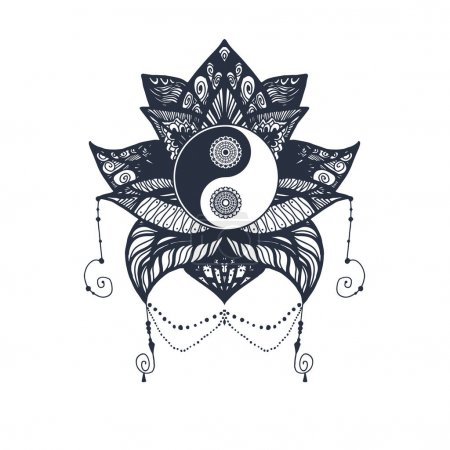 Vintage Yin and Yang in Lotus