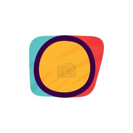 O lettre logo en papier pour enfants applique style. Parfait pour l'identité mignonne, drôle de paquet d'artisanat, affiche de vacances, etc. .