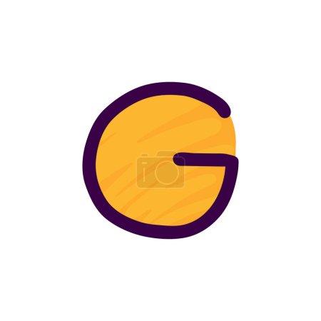 G lettre logo en papier pour enfants applique style. Parfait pour l'identité mignonne, drôle de paquet d'artisanat, affiche de vacances, etc. .