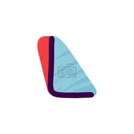 L lettre logo en papier pour enfants applique style. Parfait pour l'identité mignonne, drôle de paquet d'artisanat, affiche de vacances, etc. .