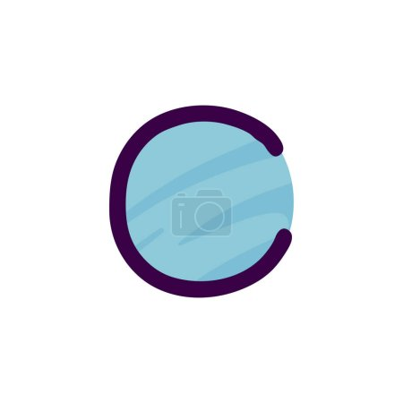 C lettre logo en papier pour enfants applique style. Parfait pour l'identité mignonne, drôle de paquet d'artisanat, affiche de vacances, etc. .