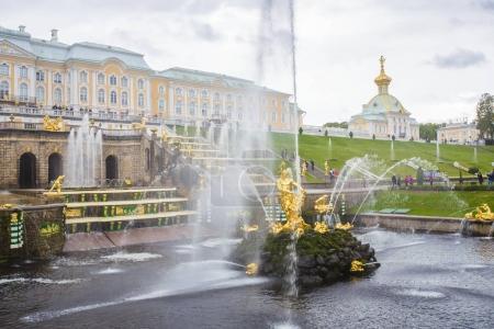 Antique fountains in Peterhof