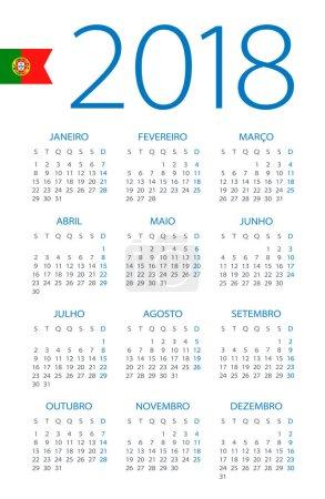 Calendar 2018 - Portuguese Version