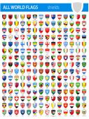 Shield Icon Flags - All World Vector