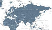 Eurasia Europa Russia China India Indonesia Thailand Africa Map - Vector Illustration