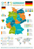 Germany - infographic map and flag - illustration