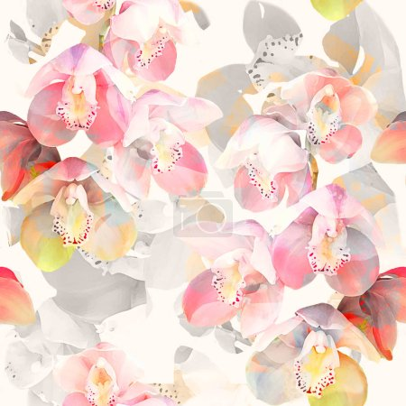 Photo for Abstract floral background. seamless pattern illustration - Royalty Free Image
