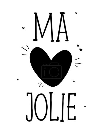 Ma Jolie in slogan in