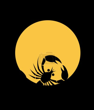 Illustration for Scorpion shadow logo icon. vector illustration - Royalty Free Image