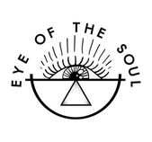 Eye of the soul lettering print inscription vector illustration