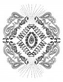 Paisley abstract ornament design vector illustration