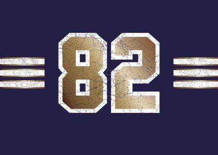 Sport jersey number 82
