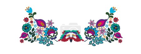 floral neck ornament embroidery