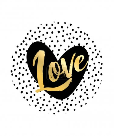 Illustration for Love sign and heart. vector illustration - Royalty Free Image