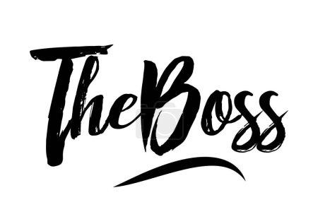 The boss lettering, inscription