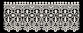 Lace embroidery ornament pattern black and white