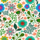 colorful abstract flowers pattern