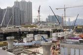 Building site in Hong Kong