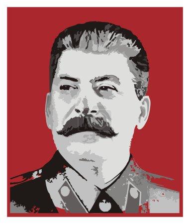Photo pour Joseph Staline sur la place du drapeau rouge - image libre de droit