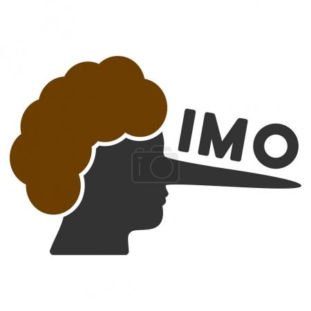 Imo Lier flat raster icon. An isolated icon on a w...