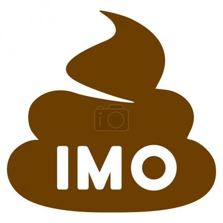 Photo pour Imo Shit pictogramme raster plat. Une icône isolée sur fond blanc . - image libre de droit