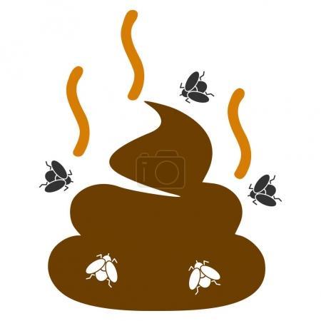 Photo pour Illustration raster plat à l'odeur de merde. Une icône isolée sur fond blanc . - image libre de droit