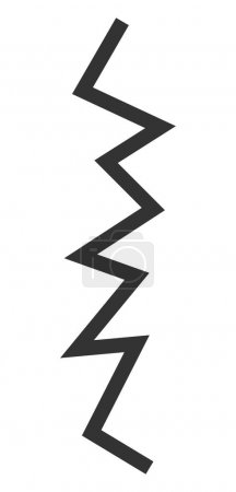 Photo pour Zigzag line raster icon. Flat Zigzag line pictogram is isolated on a white background. - image libre de droit