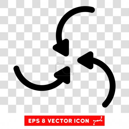 Vortex Arrows Round Vector Eps Icon