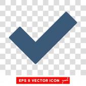 Icona di convalida Tick vettoriale Eps