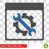 Settings Tools Calendar Page Eps Vector Icon